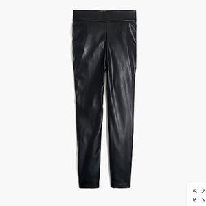 J crew vegan leather leggings